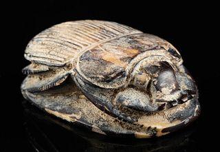Nice Egyptian Bone Scarab Amulet