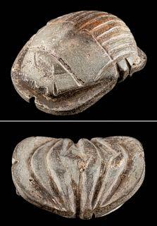 Egyptian Steatite Scarab Amulet