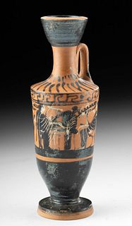 Attic Black-Figure Lekythos - w/ Maenads & Lyre Player