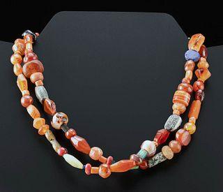 Roman Carnelian & Glass Beaded Necklace