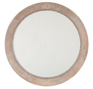 AN ART DECO OVAL MIRROR WITH SILVER FRAME, TIFFANY & CO., NEW YORK, 1907-1947