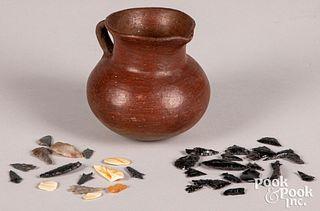 Pueblo Indian pottery pitcher