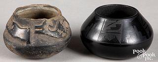 Juanita Gonzalez Pueblo blackware bowl