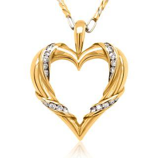 14KT GOLD DIAMOND HEART PENDANT NECKLACE