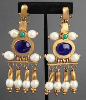 Chanel Byzantine Chandelier Earrings, c. 1970