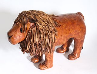 Omersa Abercrombie & Fitch Lion Footstool/Ottoman