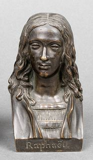 "Chardigny ""Raphael"" Bronze Bust Desk Sculpture"