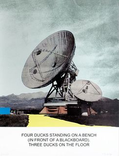 JOHN BALDESSARI, SMFA Medal Award Receipient 2015 - The news: Four Ducks Standing on a Bench . . .