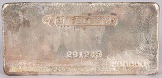 Englehard 100 ozt fine silver bar.