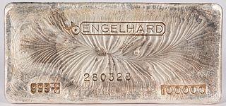 Englehard 100 ozt. fine silver bar.