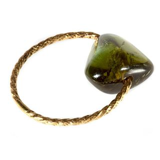 Tourmaline and 18k gold ring