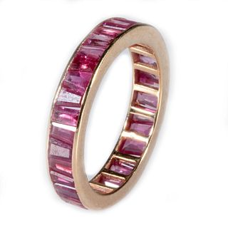 Ruby and 14k gold eternity band