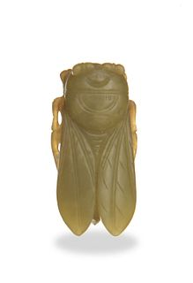 Chinese Yellow Jade Cicada, 18th century or earlier