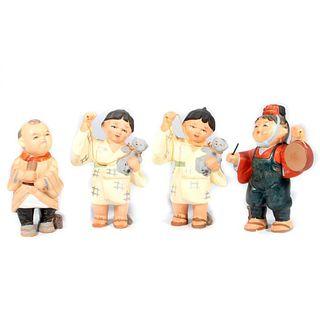 Vintage Kyoto pottery dolls