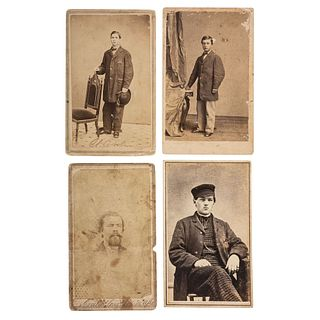 Civil War Telegraph Operator Collection, Incl. 4 CDVs and Correspondence on US Military Telegraph Stationery