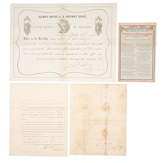 Civil War Documents, Incl. Ration List, Loyalty Oath, USCT Officer Appointment, and More