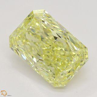 2.52 ct, Yellow, VVS1, Radiant cut Diamond. Appraised Value: $56,400
