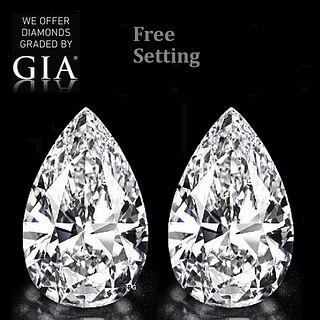 6.02 carat diamond pair Pear cut Diamond GIA Graded. Appraised Value: $310,800