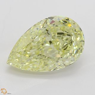 3.24 ct, Yellow, VVS1, Pear cut Diamond. Appraised Value: $82,600