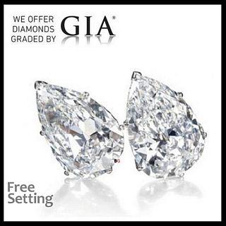 4.02 carat diamond pair Pear cut Diamond GIA Graded. Appraised Value: $93,600