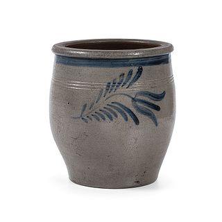 A Fine Cobalt-Decorated Stoneware Cream Jar