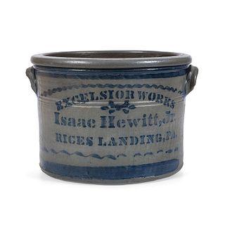 A Pennsylvania Two Gallon Stoneware Merchant's Crock