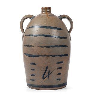 A Four Gallon Pennsylvania Stoneware Two Handled Jug