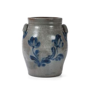A Pennsylvania Cobalt-Decorated Two Gallon Stoneware Crock