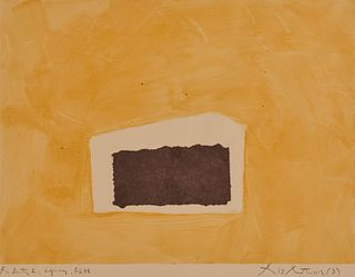 ROBERT MOTHERWELL, (American, 1915-1991), Abyss, 1978, monotype and collage