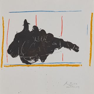 ROBERT MOTHERWELL, (American, 1915-1991), On Stage, 1983