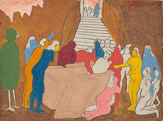 ROBERT LOUIS THOMPSON, (American, 1937-1966), The Raising of Lazarus, 1965