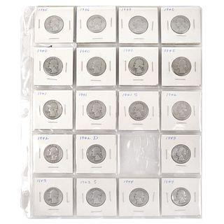 Twenty Eight (28) Washington Silver Quarters