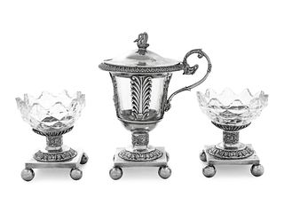 Three French Silver Table Articles