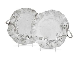 A Pair of Austrian Silver Sweetmeat Dishes