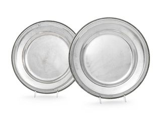 A Pair of Austrian Silver Serving Dishes