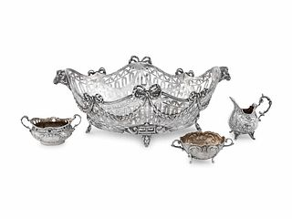 A Group of Four German Silver Table Articles