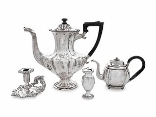 Four Continental Silver Table Articles
