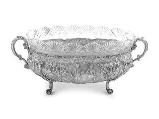A German Silver Centerpiece Basket