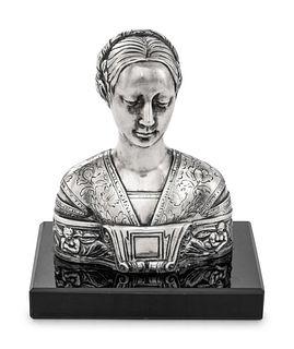 A German Silver Portrait Bust