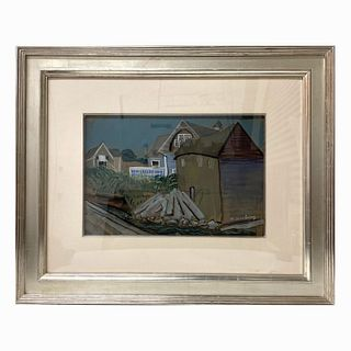 """Milton Avery """"Houses By The Bay"""" (1935)"""