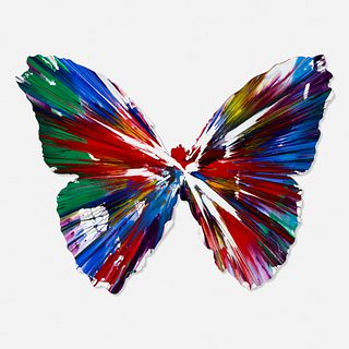 Damien Hirst, Signed Butterfly Spin Painting