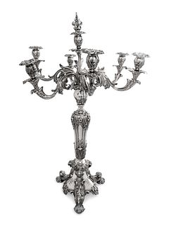 An Elkington & Co. Silver-Plate Seven-Light Candelabrum