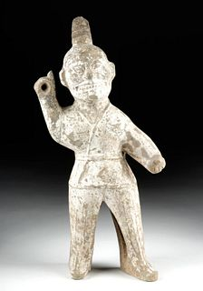 Tall Chinese Western Jin Pottery Spear Thrower