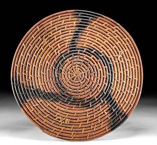 18th C. Chinese Qing Rattan Shield (Tengpai)