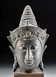 17th C. Thai Brass Buddha Head