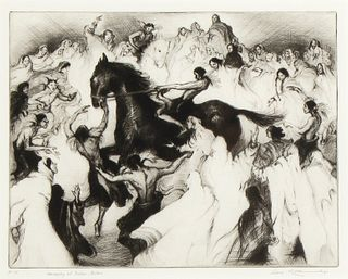 Gene Kloss, Horseplay of Indian Jesters, 1954