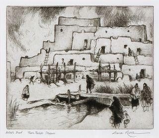 Gene Kloss, Taos Pueblo Stream, 1983