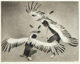 Gene Kloss, Taos Eagle Dancers, 1955