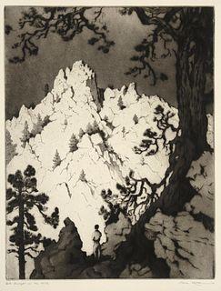 Gene Kloss, Late Sunlight on the Cliffs, 1941