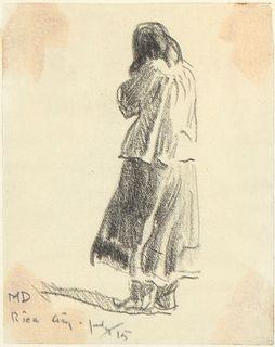 Maynard Dixon, Untitled (Apache Figure), 1915